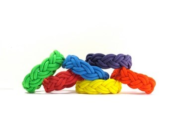 Pick Your Color, Rainbow, Turks Head Sailor Rope Bracelet, Paracord Cord, Nantucket Surf Beach, Traditional Nautical, Braided Ship Knot,