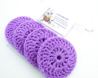 Nylon Dish Scrubbies - Set of 2 through 8 - Lavender or Light Purple Pot Scrubber