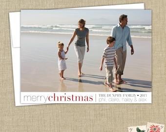 Christmas Photo Card- Merry Christmas. Modern