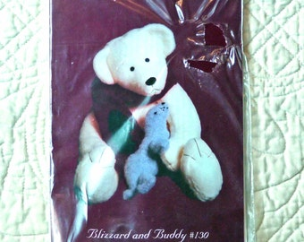 Teddy Bear Seal, Homespun Treasures 130, Craft Pattern, Blizzard, Buddy Bear, Seal, 1999 Uncut