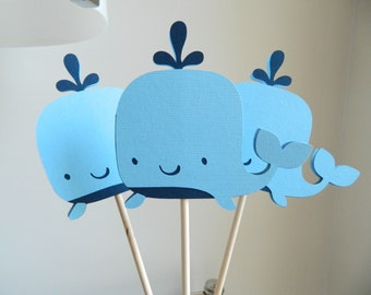 whale centerpiece sticks whale table decor whale baby shower
