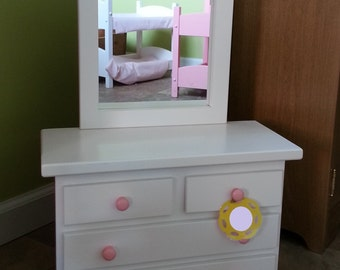 Doll Clothes Dresser American Wooden Toy Furniture Amish Made 021