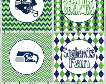 Seattle Seahawks Cupcake Toppers