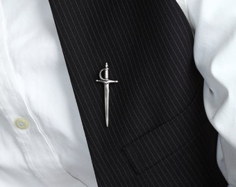 Sword Pin in Sterling Silver – Men's Lapel Pin