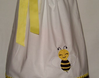 Bee Pillowcase Dress / Girly / Yellow / Black / White / Birthday / Newborn / Infant / Baby / Girl / Toddler / Custom Boutique Clothing