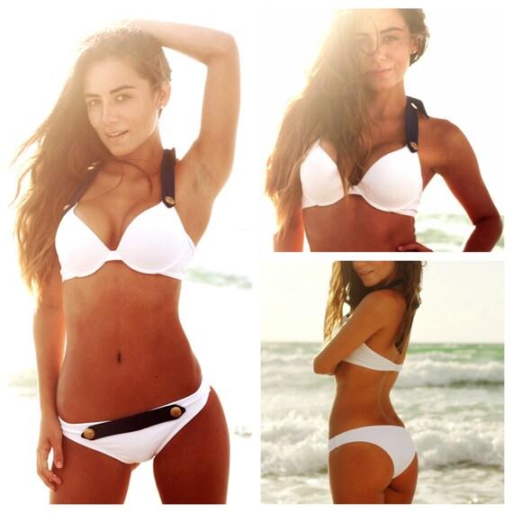 Final Sale!!! White Push Up Bra Bikini