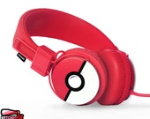 SALE Custom headphones Christmas gift for him Pokemon gift for her red Pokeball Pokemon cosplay Pokemon go Urbanears dj gamer sound headset