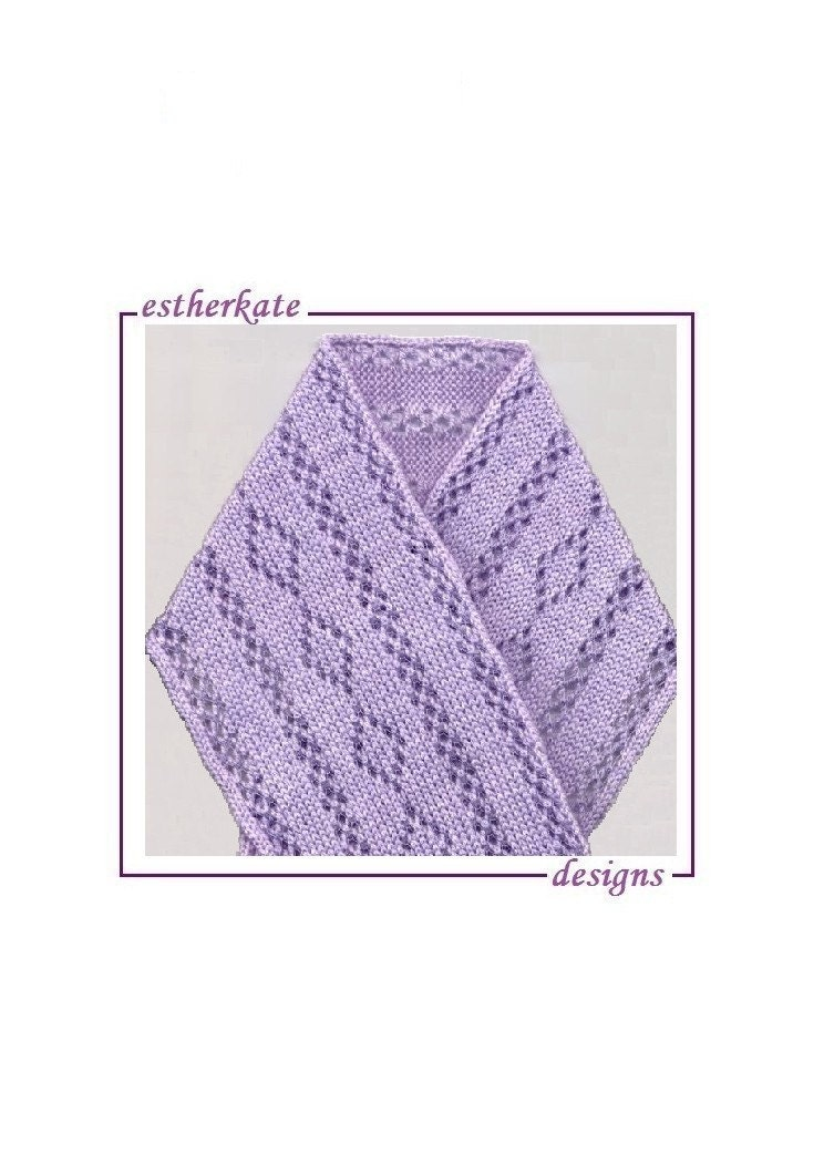 KNITTING PATTERN pdf machine knit thread lace scarf instant