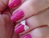 Luxury Bow Nail Charm- Nail Charms- Rhinestone Nail Charms-Nail Art
