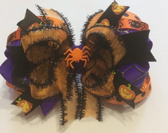 Girls Halloween Boutique Bow