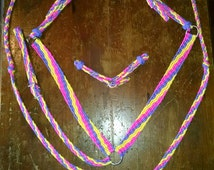 CLEARANCE SALE!!! One Ear Headstall, Breast Collar, Knotted Barrel Reins and Curb Strap Set.