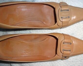 Ferragamo Heels, Vintage, Leather, Size 8, Brown