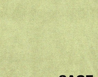 """SAGE Polyester micro faux suede upholstery fabric by the yard 60"""" Wide"""