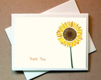 Sunflower Thank You Cards (24 cards and envelopes)