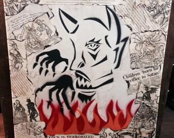 The Devil: Mixed Medium Collage