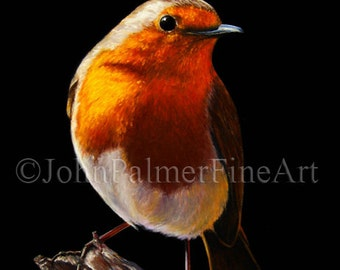 Robin painting, robin picture, Robin print from my original pastel painting.