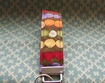 Fruit Fabric Key Chain, Wristloop Keychain, Wristlet Key Chain