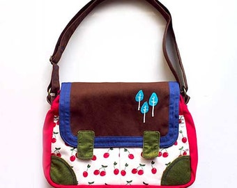 Messenger Bag - Tree Lovers Messenger (Red Cherries)