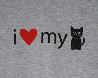 I Love My Cat Womens Tee