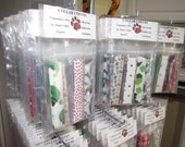 Holiday Dog Collar Covers - 6 Piece Package - Medium