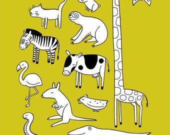 Love All Animals digital giclee print