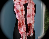 RESERVED Raspberry P02, Everyday Scarf hand-dyed, handwoven and felted by me