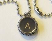typewriter key necklace pendant custom your choice