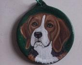 Beagle Dog Custom hand Painted Ceramic Christmas Ornament Christmas Decoration