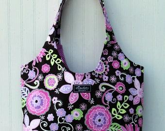 Boho Tote Bag in Boho Blossom
