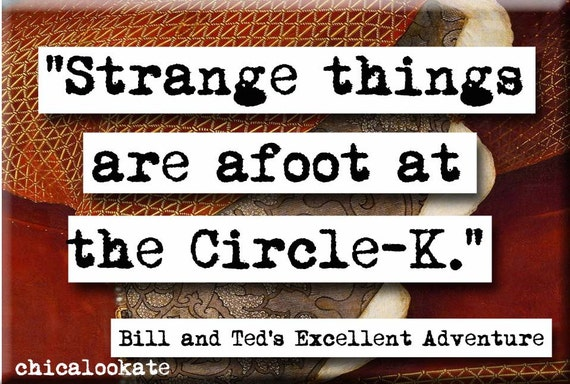 Bill And Ted's Excellent Adventure Strange Things By