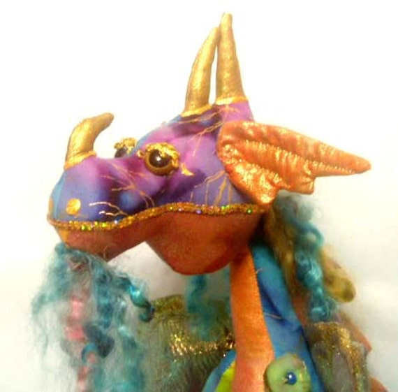 Make a dragon pattern kit primo supplies cloth doll for Dragon fabric kids