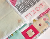 Home Sweet Home Patchwork Hand Embroidered Mini Quilt Hanging // FREE UK Shipping