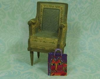 Dollhouse Miniature Bright Cat Tote Bag