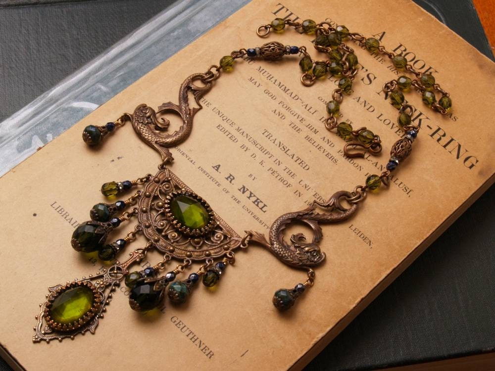 Stunning Art Nouveau Inspired Sea Monster Necklace steampunk buy now online