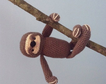 Amigurumi Crochet Sloth Pattern Digital Download