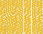 Herringbone in Yellow / True Colors by Joel Dewberry /  1 yard Cotton Quilt/Apparel Fabric