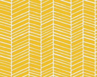 Herringbone in Yellow / True Colors by Joel Dewberry /  1 yard Cotton Quilt/Apparel Fabric