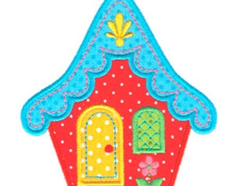 Cottage Applique, House Applique, House Embroidery, Machine Embroidery Design, Instant Download