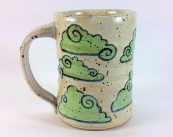 Lime Green Clouds Coffee Mug