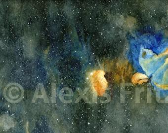 Orion Nebula Original Space Painting Acrylic