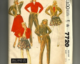 McCall's Misses' Jacket, Pants and Skirt Pattern 7720