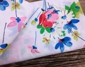 Vintage Floral Fabric- Floral Bouquet-Reclaimed Bed Linens