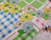 Vintage Pastel Patchwork-  Reclaimed Vintage Bed Linens Fabric