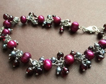 Sweet cherries bracelet