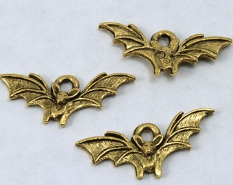 20mm Antique Gold Bat Charm #CMA760