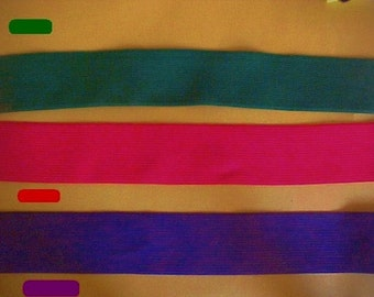 "ELASTIC 1-1/2"" Bright RED or Hunter GREEN Waistband Belt Corset Suspender Elastic 5 yds."
