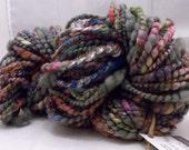 Coiled Handspun Yarn, Super Bulky 69 yards, 5.2 oz. Thick and Thin Coiled Wool Art Yarn Knitting Crochet Weaving HS-00030