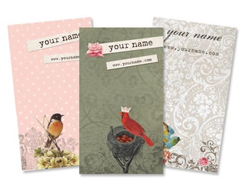 Display Cards  Custom  Earring Cards  Hair Bow Cards  Business Cards  Jewelry Tags  Jewelry Display  Custom Tags  VINTAGE BIRDS 2