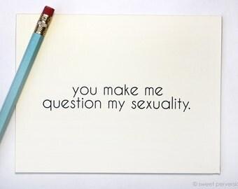Valentine Card. Love Card. Sexuality.  Best Friend Card. Break Up Card. Blank Humorous Card. Anniversary Card.