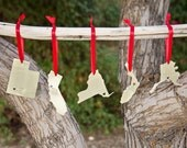 Custom State or Country Silhouette Ornaments